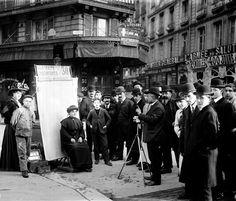 oorequiemoo:  feuille-d-automne:  Photographe en plein air. Paris, 1907. © Jacques Boyer / Roger-Viollet