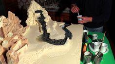 Dipingere cascata e terreno del presepe - Parte10