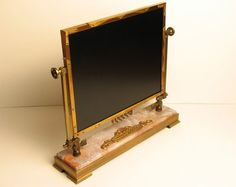 Steampunk flat screen monitor for the keyboard.