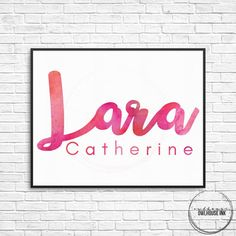Custom Watercolour Name 10x8 Digital Print  This Custom Watercolour Name print for a DIGITAL FILE in a high resolution .jpeg format 10x8 in size. For Personal Use Only.  Please note: This sale is for a DIGITAL FILE only. NO ITEM WILL BE SHIPPED Once customised, a low res file will be sent to you for approval. Once approved a high res JPEG will be sent via convo or emailed to you.  Please note that different screens and printers have color variations.   HOW TO ORDER…