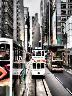 My favourite mode of transport on HK island. Always excited about riding the tram and hearing it goes 'ding ding'.