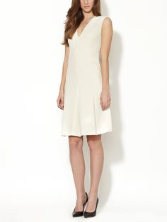 Mulan Crepe V-Neck Dress by Calvin Klein Collection at Gilt