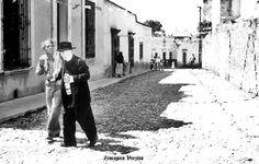 Calle Leandro Valle en filmacion de una pelicula en Zimapan Hidalgo Mexico