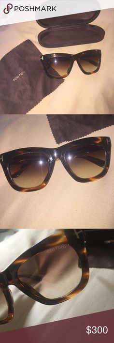 Tom Ford Sunglasses Tom Ford Authentic Sunglasses - Model TF 361 Celina - Color 50 F Havana Tom Ford Accessories Sunglasses