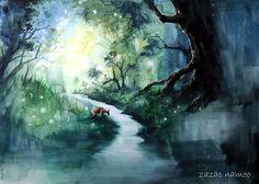 Hartland woods - art by 자작나무-zazac namoo