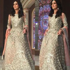 Pakistani actor Maya Ali in Maria B. Pakistani Girl, Pakistani Actress, Pakistani Outfits, Muslim Fashion, Bollywood Fashion, Asian Fashion, Maya Ali, Pakistan Fashion, Indian Designer Outfits