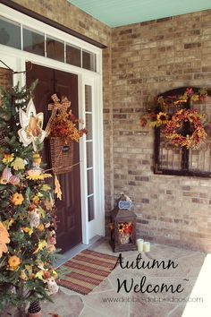 autumn welcome porch