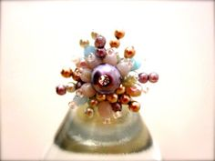 Glass pearl bouquet ring♡♡ what does it look like to you??