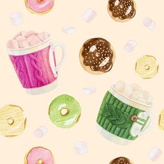 Our nice pattern with donuts - done. Now we can start printing fabric!