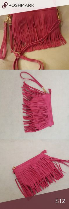 Beautiful Vegan lead-free Handbags Bright pink small body bag, with removable strap  perfect for that teenager. Bags Mini Bags