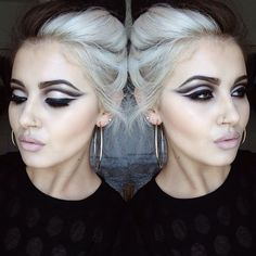 Floating cut crease and pinky lip. All about precision. #makeup