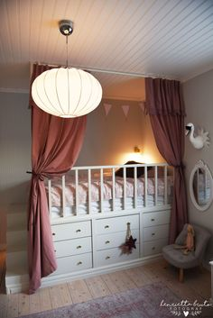 How cute are these drape details? Making bed time a little more fun! Loft Bed Plans, Kids Room Design, House Beds, Kids Corner, Dream Rooms, Kid Beds, Kids Furniture, Girls Bedroom, Room Inspiration