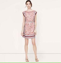 Paisley Scarf Print Dress | Loft