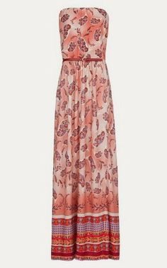 SAVVY CHIC, CANNY STYLE: Delightful Dress: Paisley Print Strapless Gown from Mango