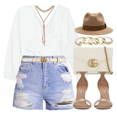 """#14664"" by vany-alvarado ❤ liked on Polyvore featuring Gucci, Yves Saint Laurent, Burberry, Lucky Brand and GUESS"