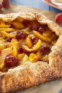 Rustic Peach Tart. This is a KAF recipe, so as usual it contains several KAF products (buttermilk powder, clearjel, and ascorbic acid).
