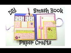DIY Paper Crafts - How to make a Smash Book Slim - Birthday Gift Idea - Giulia's Art - YouTube