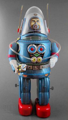 OTTI's Rosko Astronaut - tin Vintage Robots, Vintage Toys, Victorian Dollhouse, Modern Dollhouse, Retro Rocket, Arte Robot, Space Toys, Tin Toys, Retro Toys