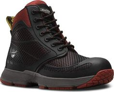 Martens Work Mens Calamus Non-Metallic Electrical Hazard Composite Toe Dr. Martens, Red Doc Martens, Doc Martens Boots, All Black Sneakers, Black Shoes, Good Work Boots, Composite Toe Work Boots, Palladium, Kickers