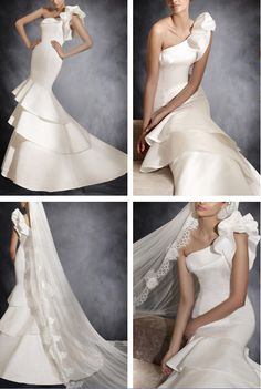 #peplum #one shoulder #wedding dresses, do you like it ?You can get this peplum wedding dresses from outerdress