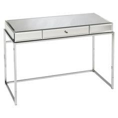 Southern Enterprises Modern Glass Mirrored Desk  $409  7-5-14  Target  40 X 17.5
