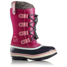 YOUTH JOAN OF ARTIC KNIT Rose (1690471-627) - Bottes pour Fille junior | Chaussures Panda