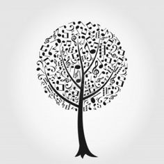 Tree From Musical Notes (royalty free cliparts, vectors, and stock)