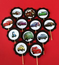 Disney CARS Cupcake Toppers by PartyXtras on Etsy, $4.00