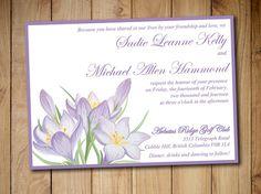 "Printable Wedding Invitation Template - Rustic Wedding Invitation - ""Rustic Lily"" Lavender Purple Invitation - DIY Wedding Template by PaintTheDayDesigns"