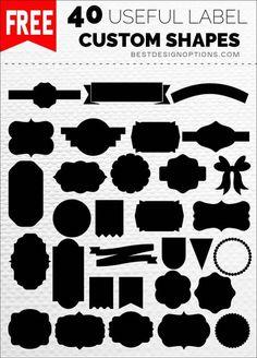 Ultimate List of Free Photoshop Custom Shapes