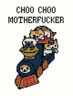 Conductor Whiskers Neko Atsume Cross-Stitch von GamesByTheThread