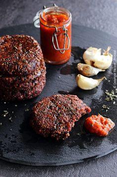 Steak veggie au quinoa à la plancha, sauce Arrabiata