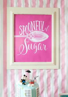 Spoonful of Sugar printable from Mary Poppins Birthday Party at Kara's Party Ideas. See more at karaspartyideas.com!