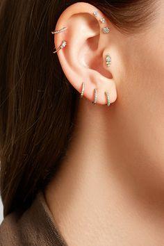 Maria Tash | 18-karat gold diamond earring | NET-A-PORTER.COM
