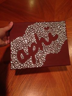 Alpha phi craft big little week rhinestone silver and Bordeaux