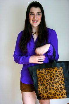 purple and leopard - brightening up for spring!