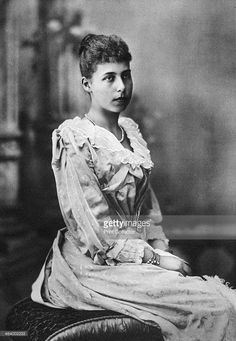Alice Maud Mary, Princess Alice of the UK , appears very young in this photograph.