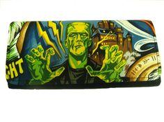 Woman Wallet with  Monster Frankenstein Horror by HandmadeFashion, $19.99