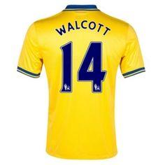 d26ae0f04 Nike Arsenal  WALCOTT 14  Away 2013-14 Soccer Jersey (Midwest Gold)