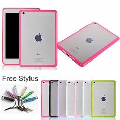 Thin Transparent Clear Soft TPU Hard PC Back Cover Case for iPad Mini Retina | eBay ... if i had an ipad mini...