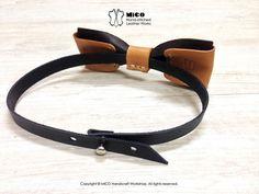 MICO Handmade Leather Bow Tie Dark Brown от MicoHandicraft