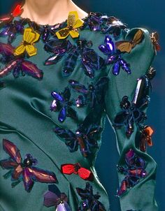 Butterfly Fashion ~ Lanvin F/W 2013 Couture Details, Fashion Details, Fashion Design, High Fashion, Fashion Show, Womens Fashion, Lanvin, Textiles, Looks Style