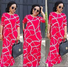 Mercy Aigbe slays in red outfit (Photos) African Maxi Dresses, African Wedding Dress, Ankara Gowns, Ankara Dress, African Attire, African Wear, African Women, Ankara Fabric, Beautiful Maxi Dresses