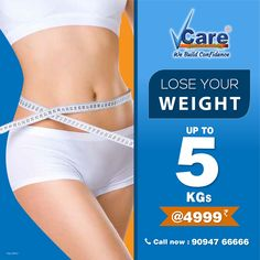 Here we are back with amazing #Offers Lose your Weight upto 5Kg @ just Rs.4999 Call now 9094766666 and Book your appointments now! Also Visit our Website for more details =>