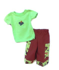 Baby Boys pants and T shirt 6 months green and by SouthernSister2, $30.00
