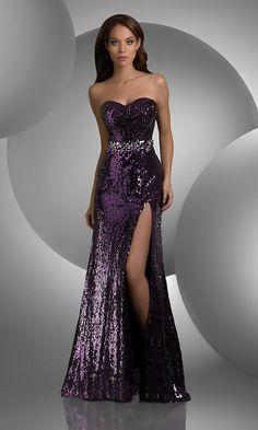 Strapless Sequin Prom Dress BJ-59406-BJV