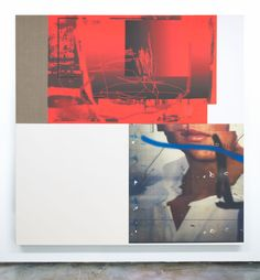 Chris Dorland - Untitled (soft poer) 2015 UltraChrome ink, gesso, linen, canvas, UV gel, stretcher bars 78.5 inches x 78.5 inches