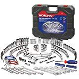 WORKPRO Socket Wrench Set, Mechanics Tool Kit Inch, Inch and Inch Drive Quick Release Ratchet, Metric and Standard Sockets, with Blow Molded Case -- Visit the image link more details. (This is an affiliate link) Jeep Wrangler Accessories, Jeep Accessories, Socket Wrench Set, Socket Set, Jeep Gifts, Power Hand Tools, Mechanic Tools, Wrench Tool, Blow Molding