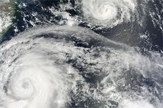 Typhoons Saola and Damrey : Natural Hazards : NASA Earth Observatory