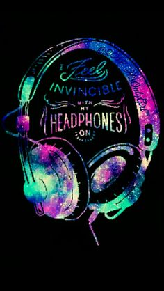 Invincible headphones iPhone/Android galaxy wallpaper I created for the app CocoPPa.